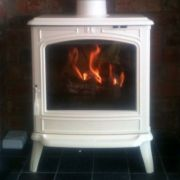 Franco Belge Savoy Elegance Ivory multi fuel stove